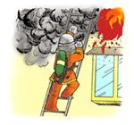 火事を消すイラスト