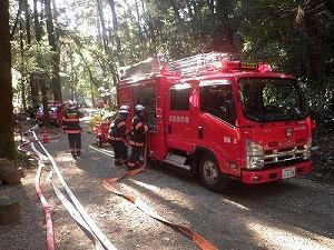 消防活動中