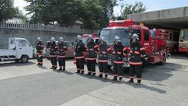 開始報告前の訓練参加の各部隊