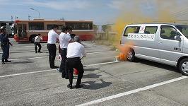神姫バス株式会社の皆様による消火器取扱訓練
