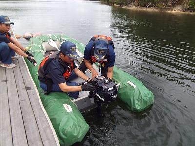 ボート取扱訓練