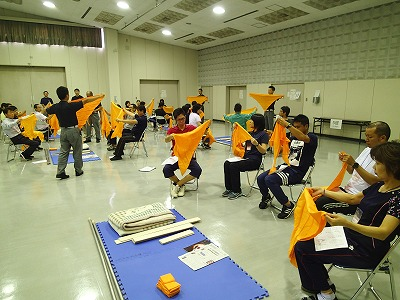 三角巾等の使用方法習得
