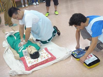 救急訓練(施設職員による初動対応訓練)