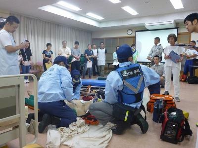 救急訓練(救急隊による処置)