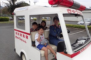 ミニ消防車・救急車試乗コーナー