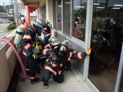火災防ぎょ訓練の状況
