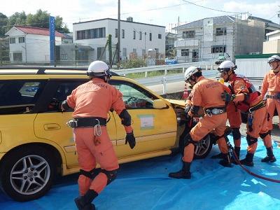 交通救助訓練の状況