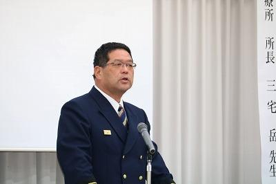 閉会のあいさつ(北はりま消防組合多可消防署 服部署長)