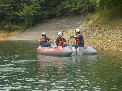 ボート操船訓練