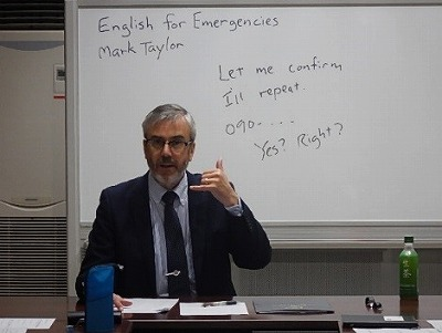 講師  マーク・テーラー氏  (米国出身)