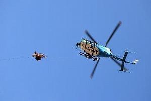 兵庫県防災航空隊による要救助者救出