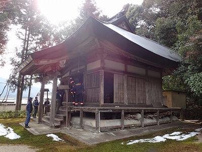 本堂の査察状況(阿弥陀寺)