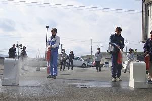 消火器の取扱訓練