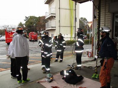 消防訓練の様子