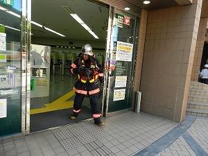 三井住友銀行へ消火状況確認