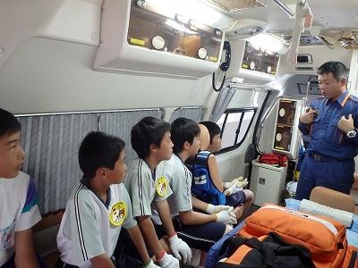 救急車の資器材説明