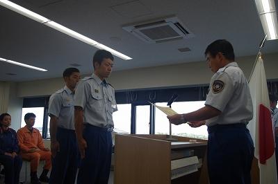 優良救急隊員表彰式(加東消防署)