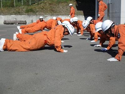 救助訓練(体力錬成)