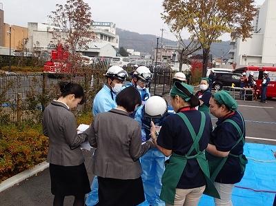救急隊によるトリアージ訓練