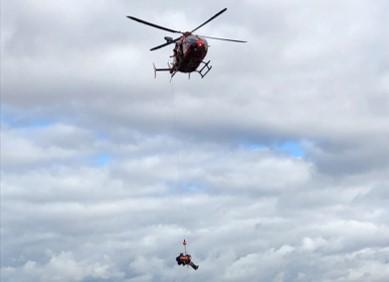 兵庫県消防防災航空隊による救出