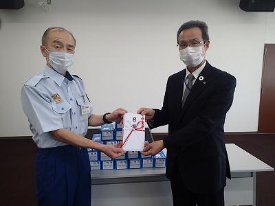 中兵庫信用金庫様からマスクが寄贈されました