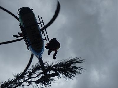 航空隊による救出活動