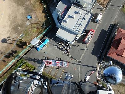 上空35mから見学風景を撮影