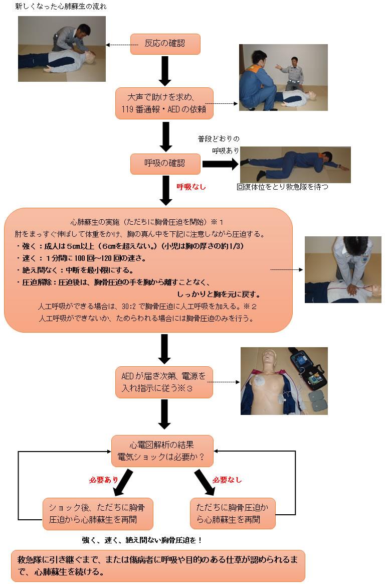 心肺蘇生法の流れ2015